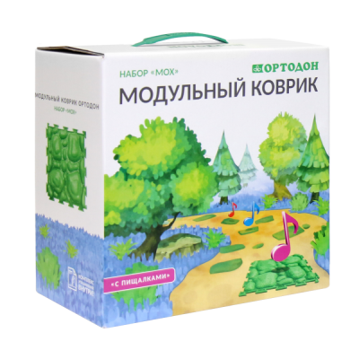 """Модульный коврик набор """"Мох"""" с пищалками"""